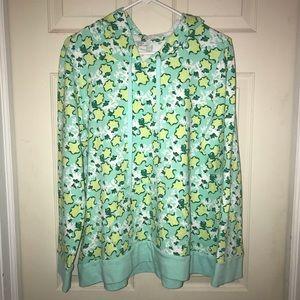 🌴 Crown & Ivy Women's Green Hoodie Sz XL